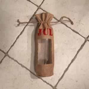 Gavepose - vinflaske